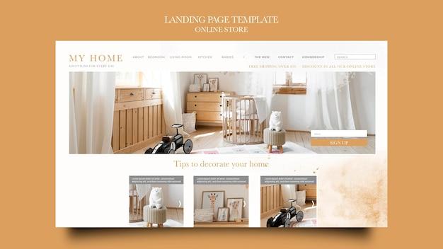 Sjabloon voor bestemmingspagina's voor online winkel voor meubelen