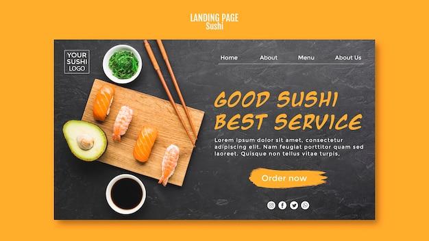 Sjabloon voor bestemmingspagina's voor sushi