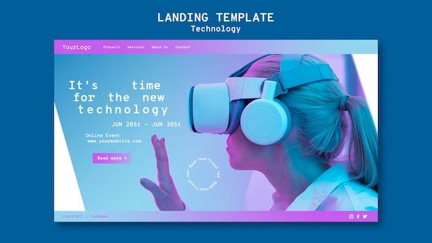 Sjabloon voor bestemmingspagina's voor virtual reality