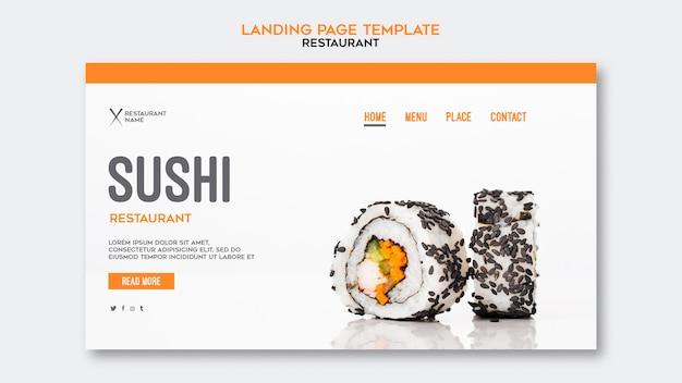 Sjabloon voor bestemmingspagina sushi restaurant