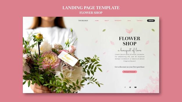 Sjabloon voor bestemmingspagina van bloemenwinkel