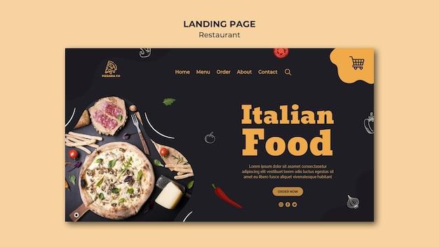 Sjabloon voor bestemmingspagina voor italiaans restaurant