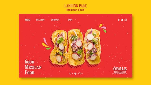 Sjabloon voor bestemmingspagina voor mexicaans eten