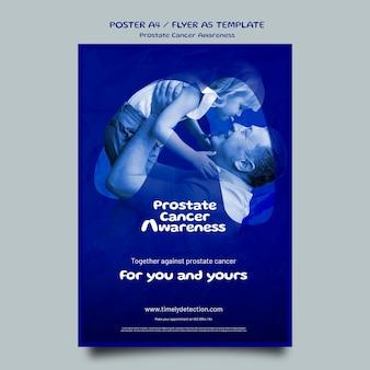 Sjabloon voor blauwe november-poster