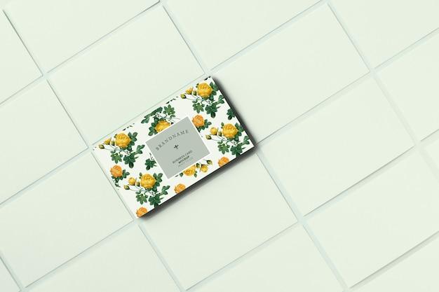 Sjabloon voor bloemen visitekaartjes sjabloon