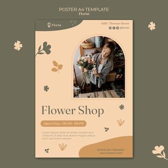 Sjabloon voor bloemenwinkelposter