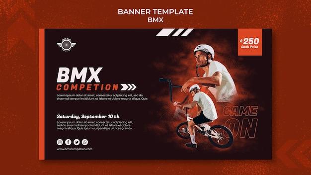 Sjabloon voor bmx horizontale banner