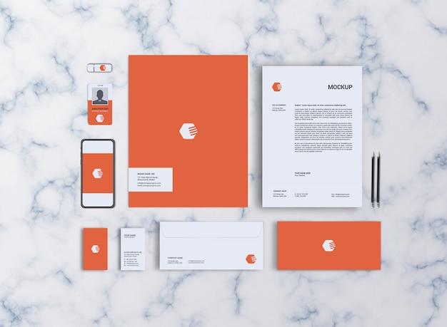 Sjabloon voor briefpapier mockup