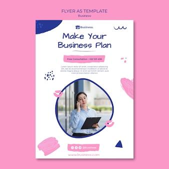Sjabloon voor businessplan-flyer