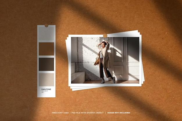 Sjabloon voor creatief moodboard en fotocollage