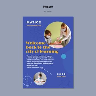 Sjabloon voor creatief onderwijs afdrukken