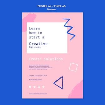 Sjabloon voor creatief zakelijk afdrukken