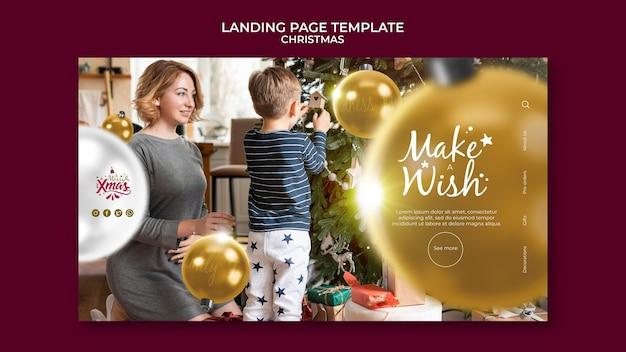 Sjabloon voor creatieve feestelijke bestemmingspagina's voor kerst