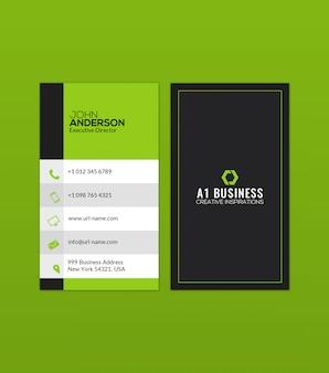 Sjabloon voor creatieve groene achtergrond visitekaartjes