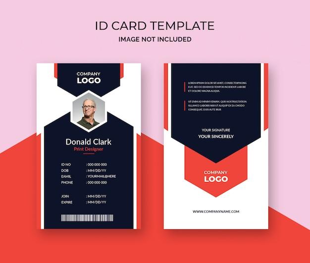 Sjabloon voor creatieve identiteitskaart