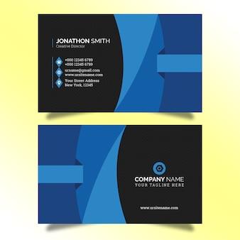 Sjabloon voor creatieve visitekaartjes