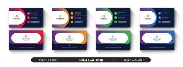 Sjabloon voor creatieve zakelijke visitekaartjes