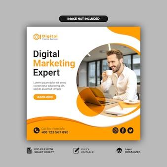 Sjabloon voor digitale marketing sociale media post