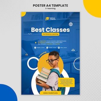 Sjabloon voor e-learningposters