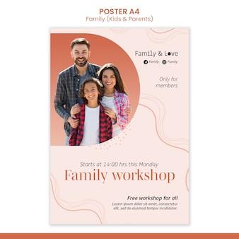 Sjabloon voor familie-ontwerpposter
