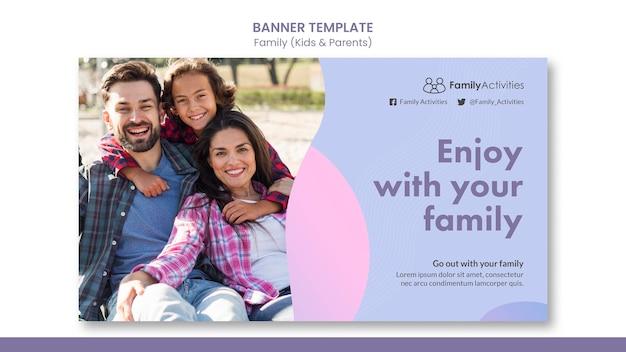 Sjabloon voor familiebanner met foto