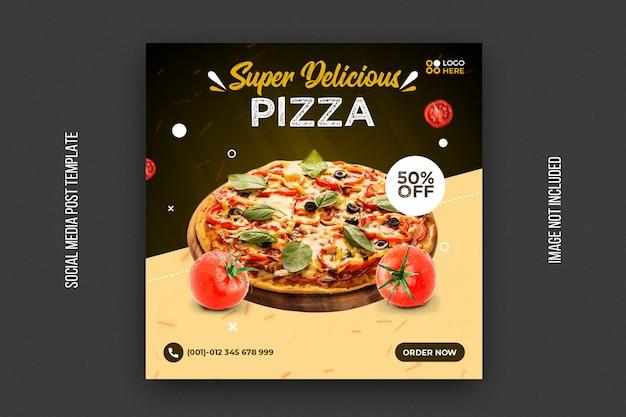 Sjabloon voor fast food vierkante spandoek