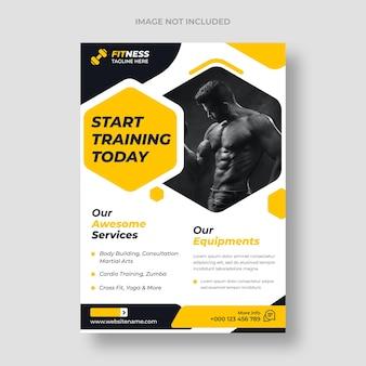 Sjabloon voor fitness-flyer