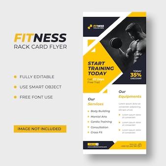 Sjabloon voor fitnessrekkaart dl-flyer