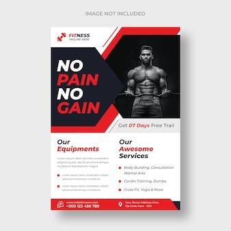 Sjabloon voor fitnesstraining