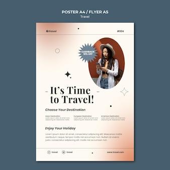 Sjabloon voor flyer over reistijd