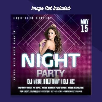Sjabloon voor flyers van de nachtclub