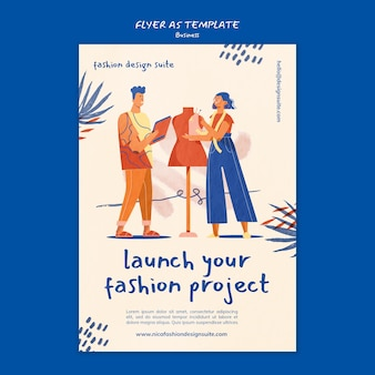 Sjabloon voor flyers voor modezaken