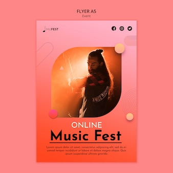 Sjabloon voor folder van muziekevenementen