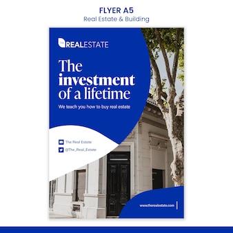 Sjabloon voor folder van onroerend goed investeringen
