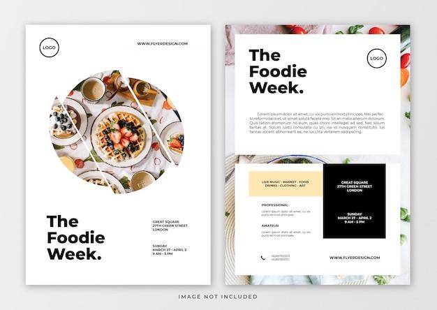 Sjabloon voor folder van voedselevenementen
