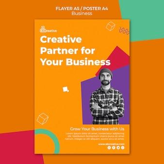 Sjabloon voor folder van zakenpartner