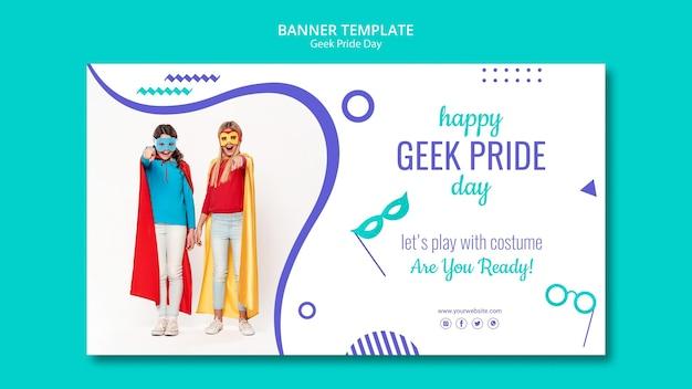 Sjabloon voor geek pride-dag-spandoek