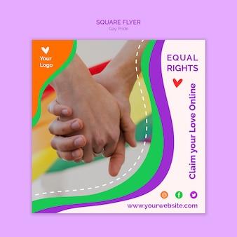 Sjabloon voor gelijke rechten vierkante flyer