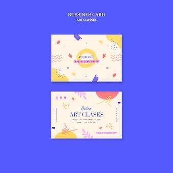 Sjabloon voor geometrische visitekaartjes voor kunstlessen