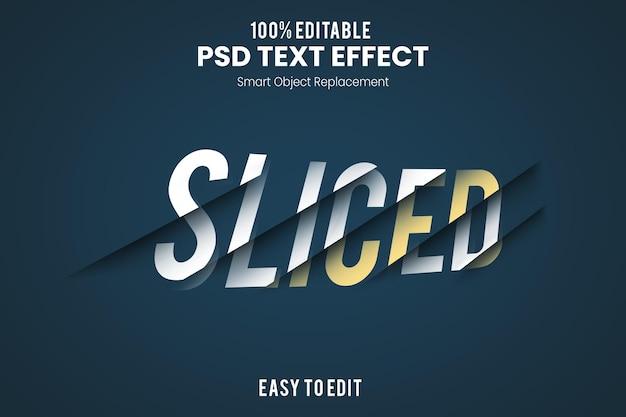Sjabloon voor gesneden teksteffect
