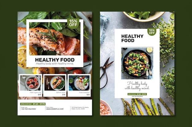 Sjabloon voor gezonde restaurantpromotie psd