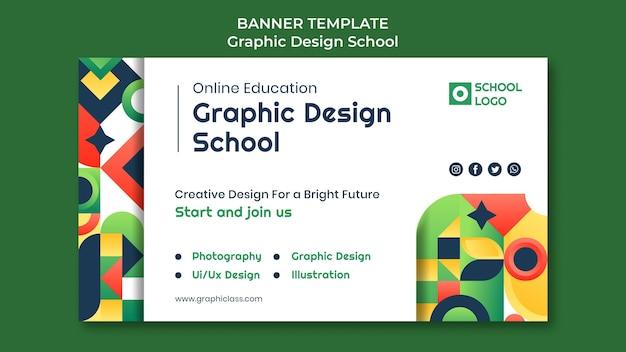 Sjabloon voor grafisch ontwerp schoolbanner