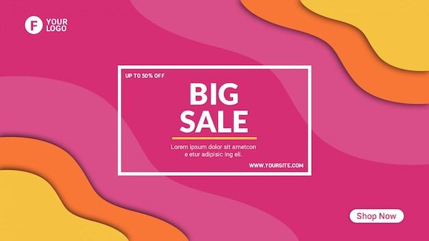 Sjabloon voor grote verkoop abstracte spandoek