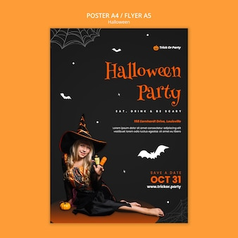 Sjabloon voor halloween-feestposter
