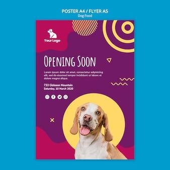 Sjabloon voor hondenvoer flyer