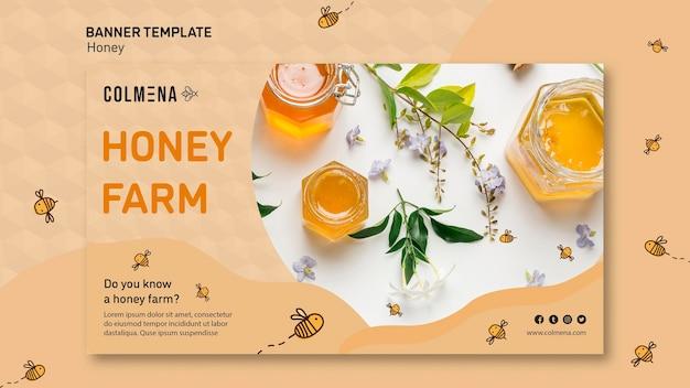 Sjabloon voor honing winkel promo spandoek