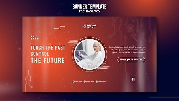 Sjabloon voor horizontale banner technologie