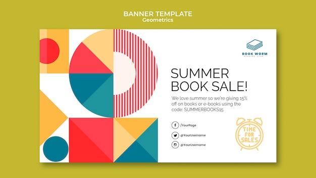 Sjabloon voor horizontale banner van boekverkoop
