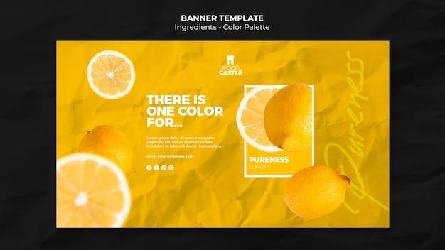 Sjabloon voor horizontale spandoek met sinaasappel