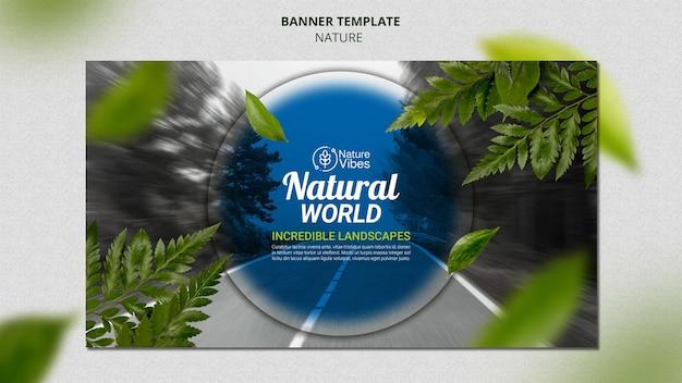 Sjabloon voor horizontale spandoek natuur